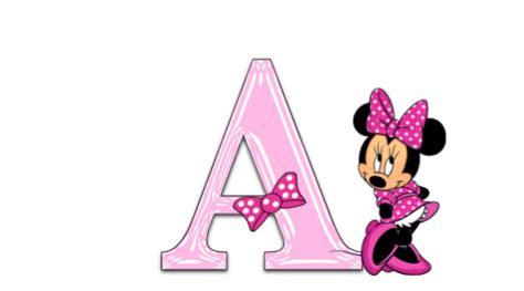 Mimi In Letters by Minnie Mouse Pink Alphabet Jewels Creation