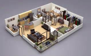 Free 3d Floor Plan 25 Two Bedroom House Apartment Floor Plans