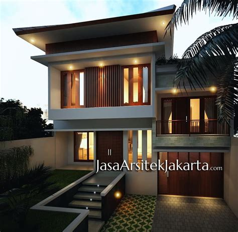 desain rumah 4 kamar luas 330 m2 jasa arsitek jakarta jasa desain rumah 2 lantai contoh z