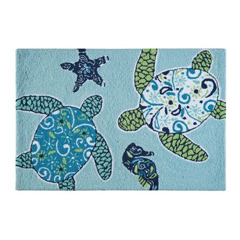 turtles rug imperial coast sea turtle rug