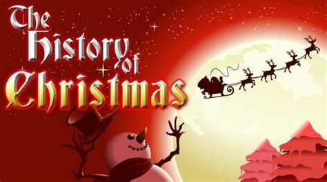 the history of christmas in timeline facts infographic