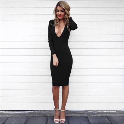 black and white long sleeve red dress discount women winter dresses long sleeve deep v neck