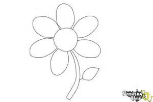 Easy Flower To Draw Step By Step - how to draw a flower easy drawingnow