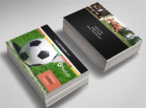soccer business card templates free soccer c business card templates mycreativeshop