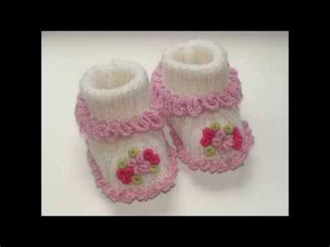 como hacer zapatitos tejidos zapatitos para bebe reci 233 n nacido en crochet youtube