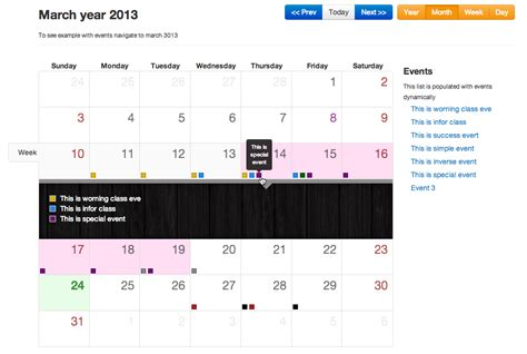 bootstrap templates for java bootstrap calendar javascripting