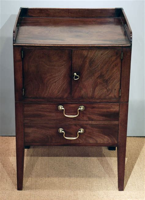 georgian tray top commode antique bedside cabinet