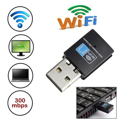Wifi Adapter Usb Dongle Wireless 300 Mbps Antena high speed 300mbps mini usb wireless wifi adapter wireless lan network card dongle 802 11n g b