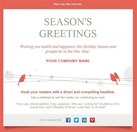 7 Email Templates To Drive Results This Holiday Season Greeting Email Template
