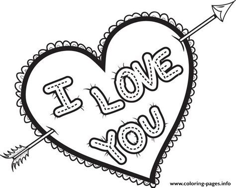 I Love You Valentines Coloring Pages Printable