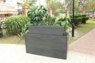 simple tall rectangular outdoor planters with 2 pcs in set outdoor large ideas popular home