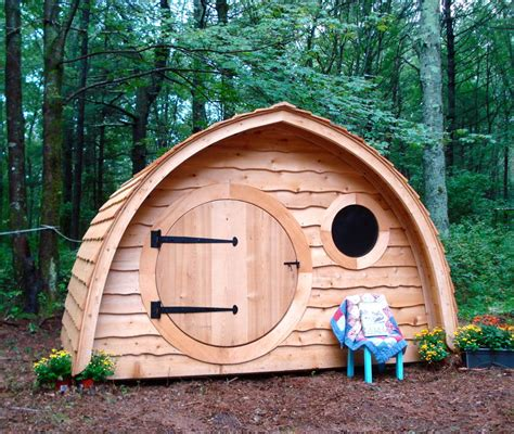 Playhouse Doors And Windows Decor Garden Exquisite Picture Of Unique Shape Pallet Wooden Dome Cool Kid Playhouse Along With
