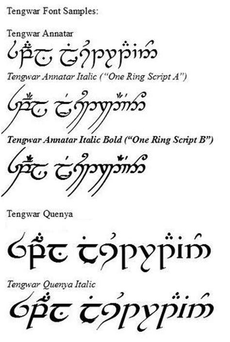 tattoo fonts elvish i definitely want something in elvish script