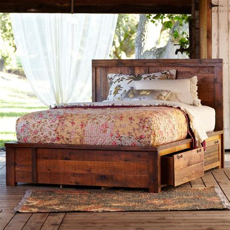 pallet bed with storage pallet beds ideas pallet idea