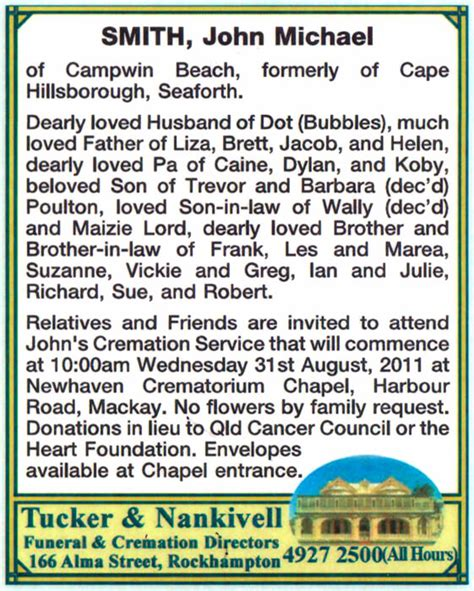 section funeral home obituaries newspaper obituaries tucker nankivell funeral