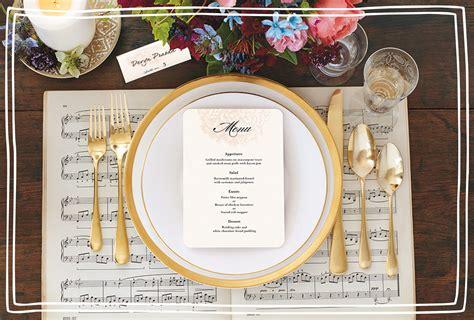 wedding menu ideas  season  shutterfly