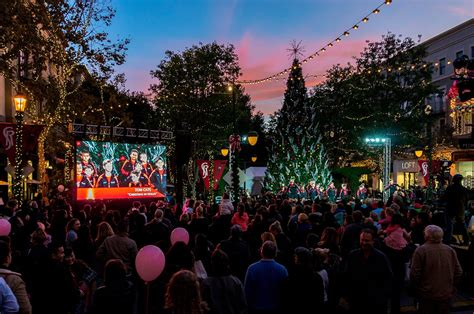 santana row tree lighting santa visits tu nov 15