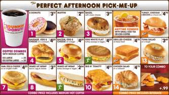 Menu Dunkin Donuts Dunkin Donuts Menu Prices Secret Menu Secret Menus