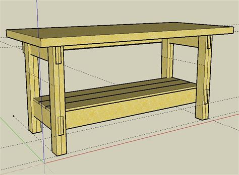 bench blueprints weekend workbench