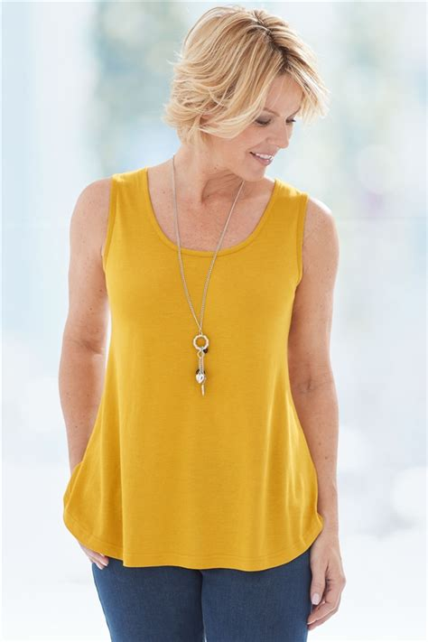 Ready Flare Blouse flare bamboo cotton tank top