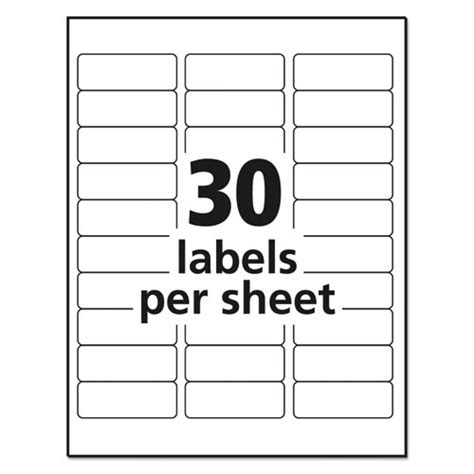 template for address labels 1 x 2 5 8 matte clear easy peel address labels inkjet 1 x 2 5 8