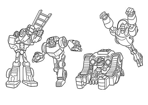 coloring pages rescue bots all rescue bots coloring pages for kids printable free