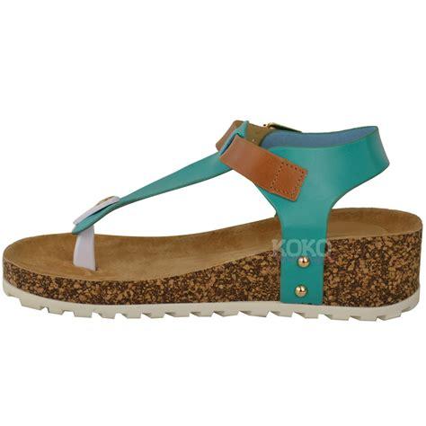 wedge slippers womens new womens wedge comfort sandals cushioned flip