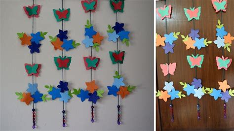Hanging Paper Crafts - paper butterflies for your wall decoration how to make