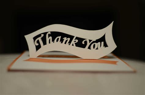 thank you popup card template free ribbon thank you pop up card template creative pop up cards