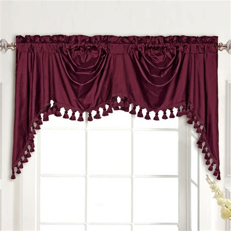 Silk Valance United Curtain Co Dupioni Silk Rod Pocket Swag 108