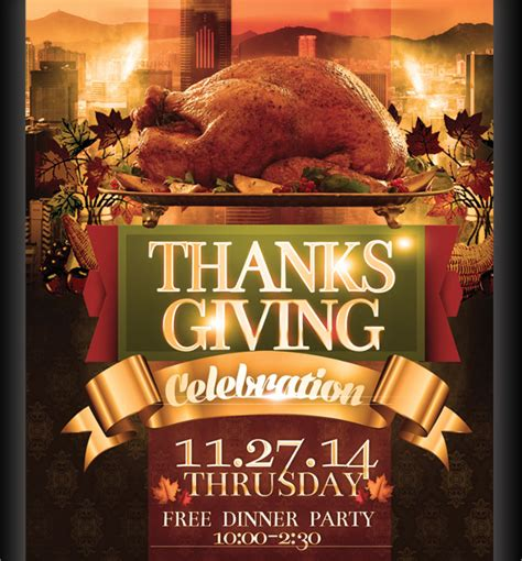 18 Thanksgiving Flyers Free Psd Ai Eps Format Download Free Premium Templates Thanksgiving Flyer Template