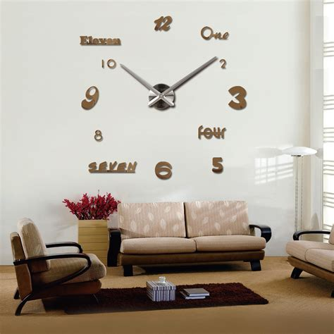 clock in living room 2016 new vintage wall clock modern design large diy