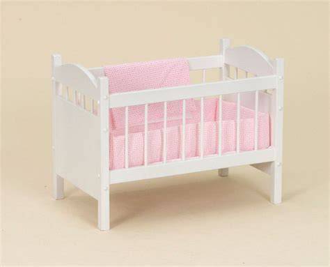 Wooden Baby Doll Cribs by Wooden Doll Crib With Bedding Bitty Baby Reborn Bassinet
