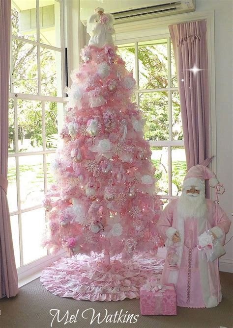 pink and white xmas tree skirt 20 amazing tree decoration ideas tutorials hative