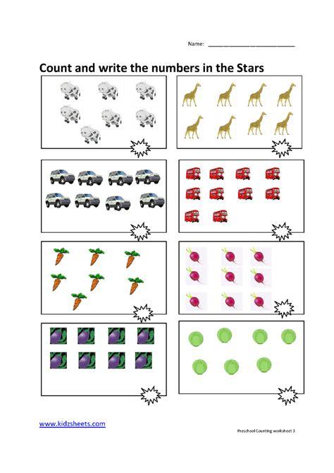 Preschool Counting Worksheets by Kidz Worksheets Preschool Counting Worksheet3