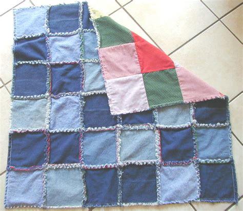 denim frayed quilt
