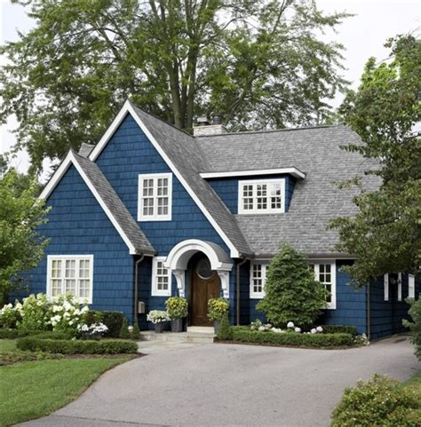 Blue And White Cape Style House Pictures, Photos, and