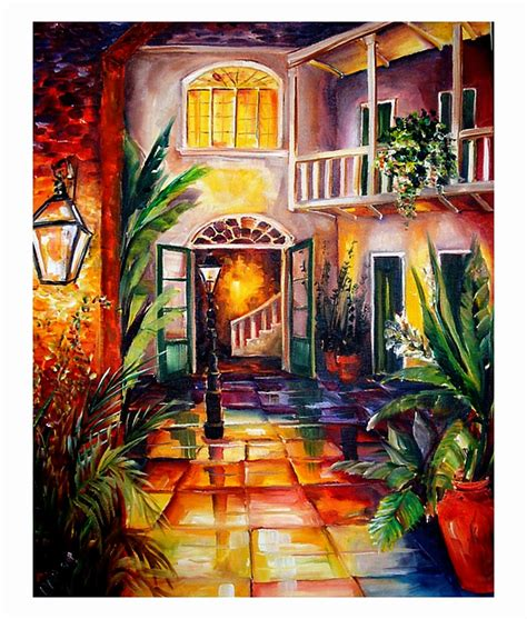 artist new orleans new orleans by diane millsap a new orleans courtyard
