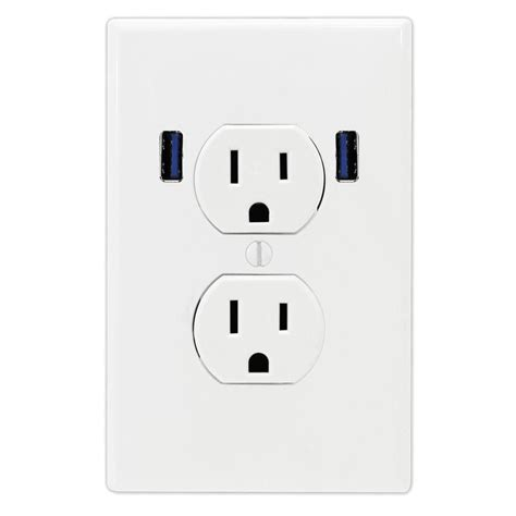 u socket 15 standard duplex wall outlet with 2 built