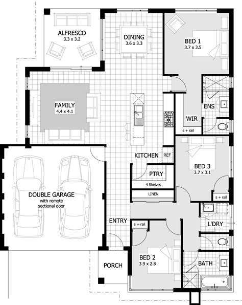 Three Bedrooms House Plans by 3 Bedroom House Plans Home Design Ideas