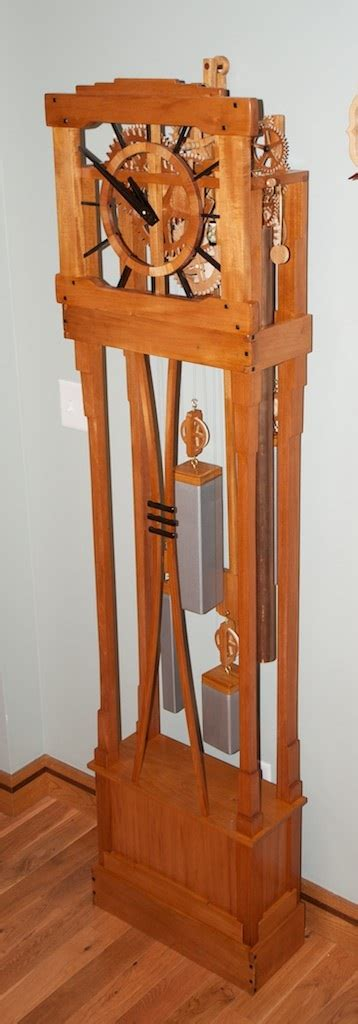 grandfather clock woodworking plans rick s grandfather clock the wood whisperer