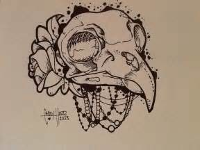 couple of bird roses and skull tattoo designs photo 3