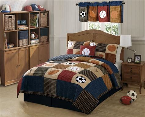 All State 3pc Quilt Bed Set Boys Sports Football Comforter Ebay Boys Sports Baseball Classic Soccer State Quilt Bedding Set