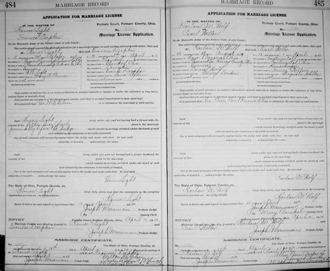 Ohio State Marriage Records Genealogy Data Page 31 Notes Pages