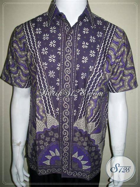 Kemeja Batik Ungu kemeja batik ungu batik kerja pria motif bagus ld489t m
