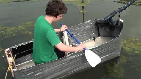 duct tape boat  test   sons latest project