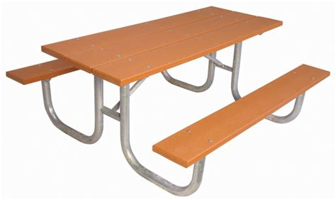 ultrasite 6 ft commercial recycled plastic table cedar