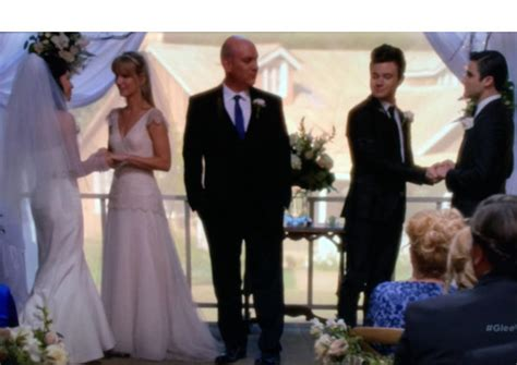 glee brittany santanas wedding kurt blaine married