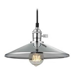 shade pendant lighting retro hoyt polished chrome cone shade mini pendant light