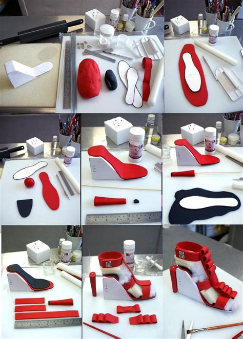high heel gumpaste shoe step by step by verusca on deviantart